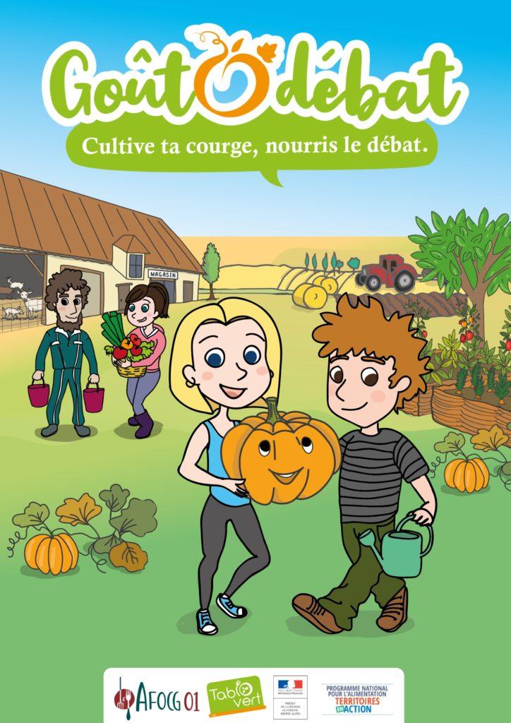 Poster A2 illustrant le jeu GoûtOdébat